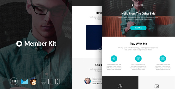 MemberKit  - Responsive Email + Builder Access - Email Templates Marketing