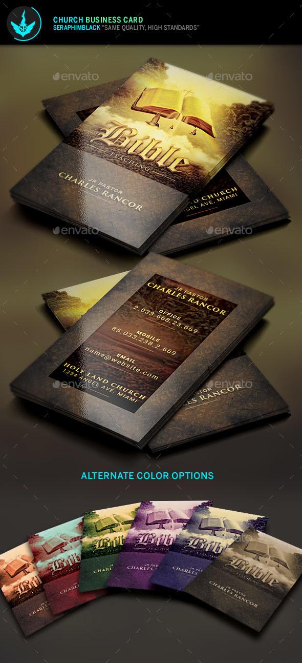 Bible Teacher Church Business Card Template By Seraphimblack