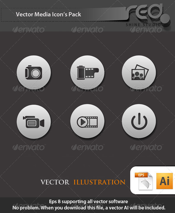 Media Icon Vector Pack - Web Elements Vectors