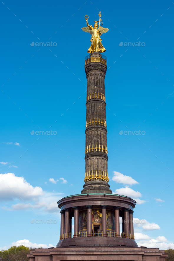 The Statue of victory in Berlin - Stock Photo - Images