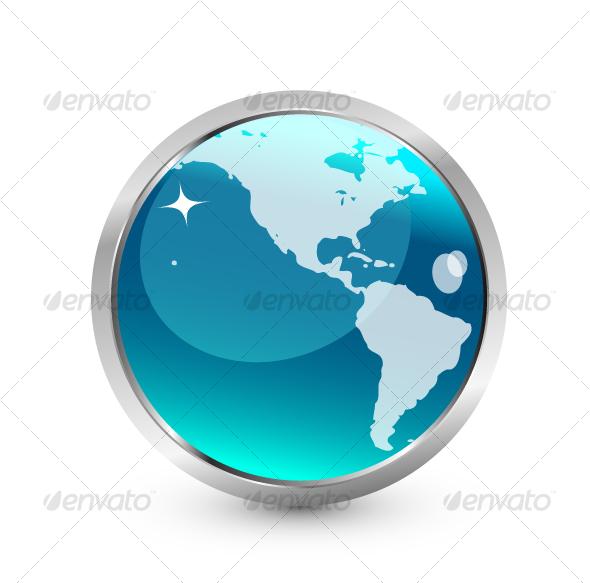 Blue Earth icon - Conceptual Vectors