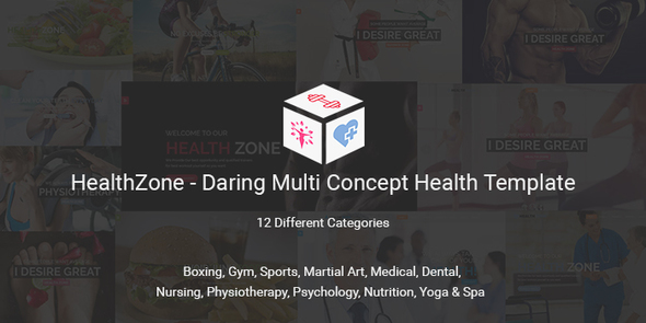 HealthZone – Daring Multi Concept Template for Medical, Nursing, Yoga, Sports, Gym & Fitness