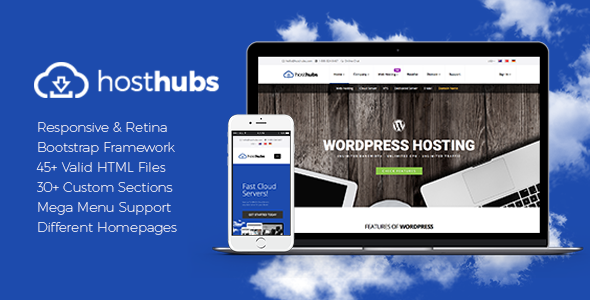 HostHubs | Responsive WHMCS Web Hosting, Domain, Technology Site Template