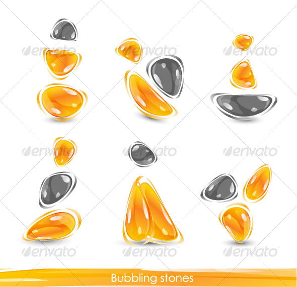 Abstract glass orange shapes - Abstract Icons
