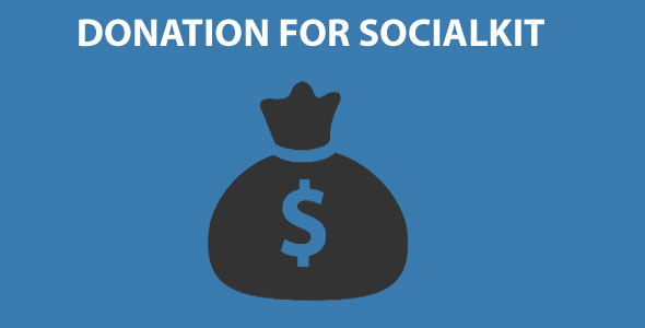 Donation for Socialkit - CodeCanyon Item for Sale
