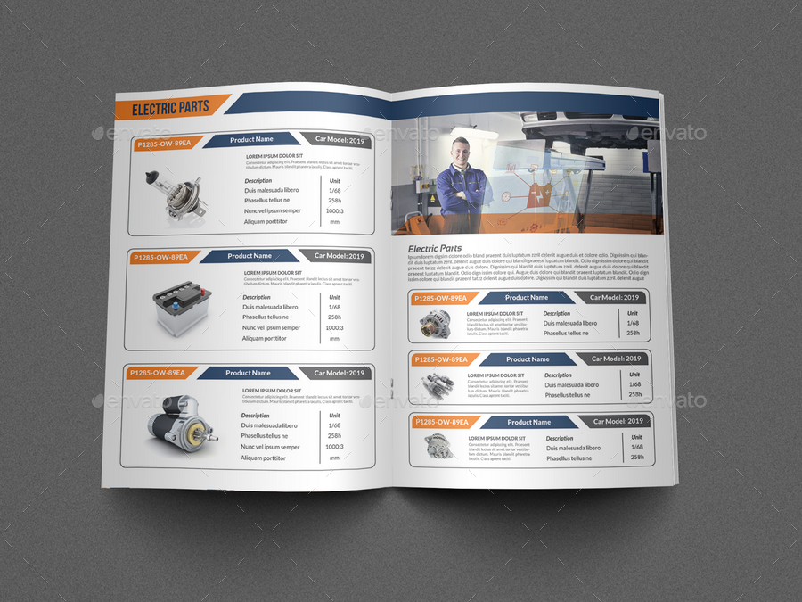 Auto parts catalog brochure template vol 2 by owpictures for Online product catalog template