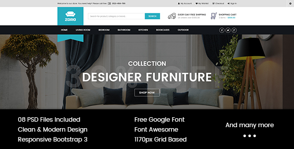 Zoro – Multi-Purpose eCommerce PSD Template