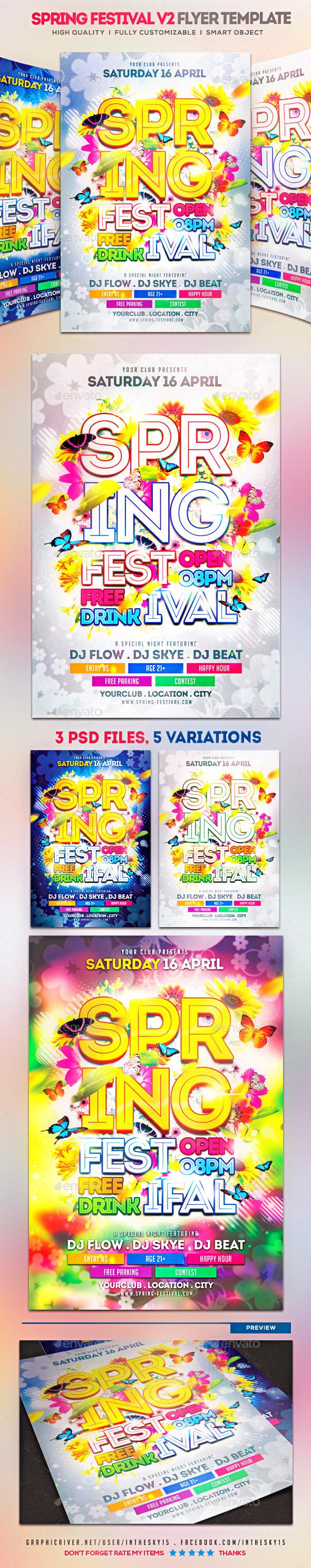 Spring Festival V2 Flyer Template - Events Flyers