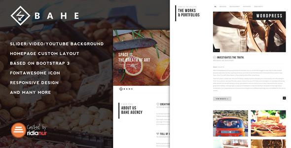 Bahe - Responsive One Page Portfolio Theme - Portfolio Creative