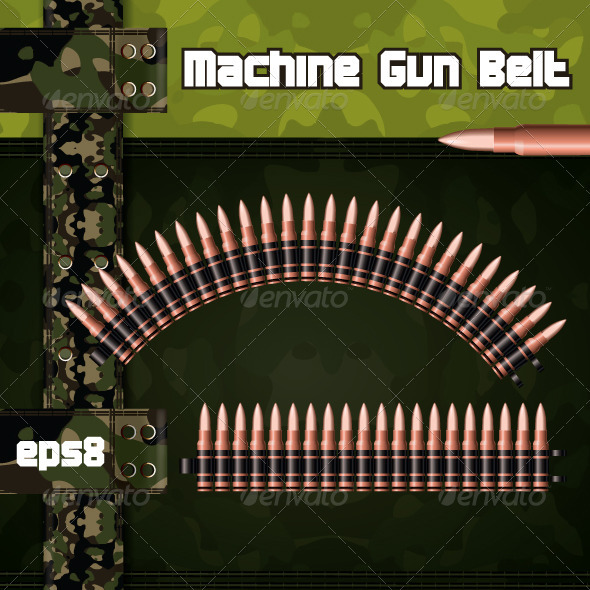 Machine gun belts. - Man-made Objects Objects