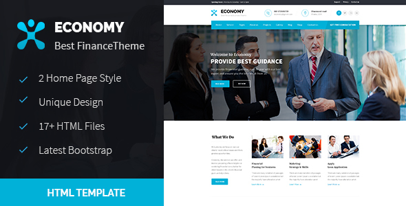 Economy – Finance & Business HTML Template