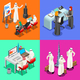 Arab Businessman Isometric People - GraphicRiver Item for Sale