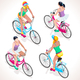 Girl Teen Cycling Isometric People - GraphicRiver Item for Sale