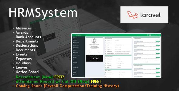 Laravel Human Resource Management System - CodeCanyon Item for Sale