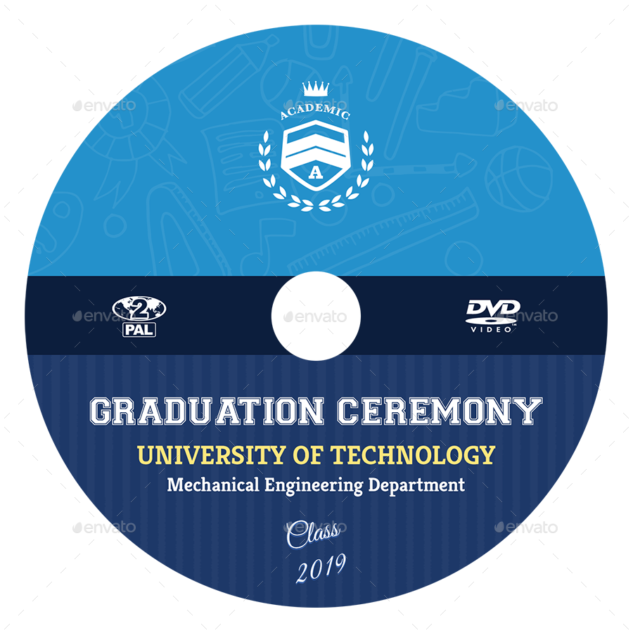 Graduation Ceremony DVD Cover and Label Template Vol.2 by OWPictures