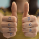 Female Hands Showing A Sign Of Thumbs Up - VideoHive Item for Sale