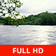 River Flowing and Vegetation in a Cloudy Day - VideoHive Item for Sale