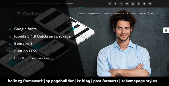 Corlton Multi-Purpose Joomla! Template