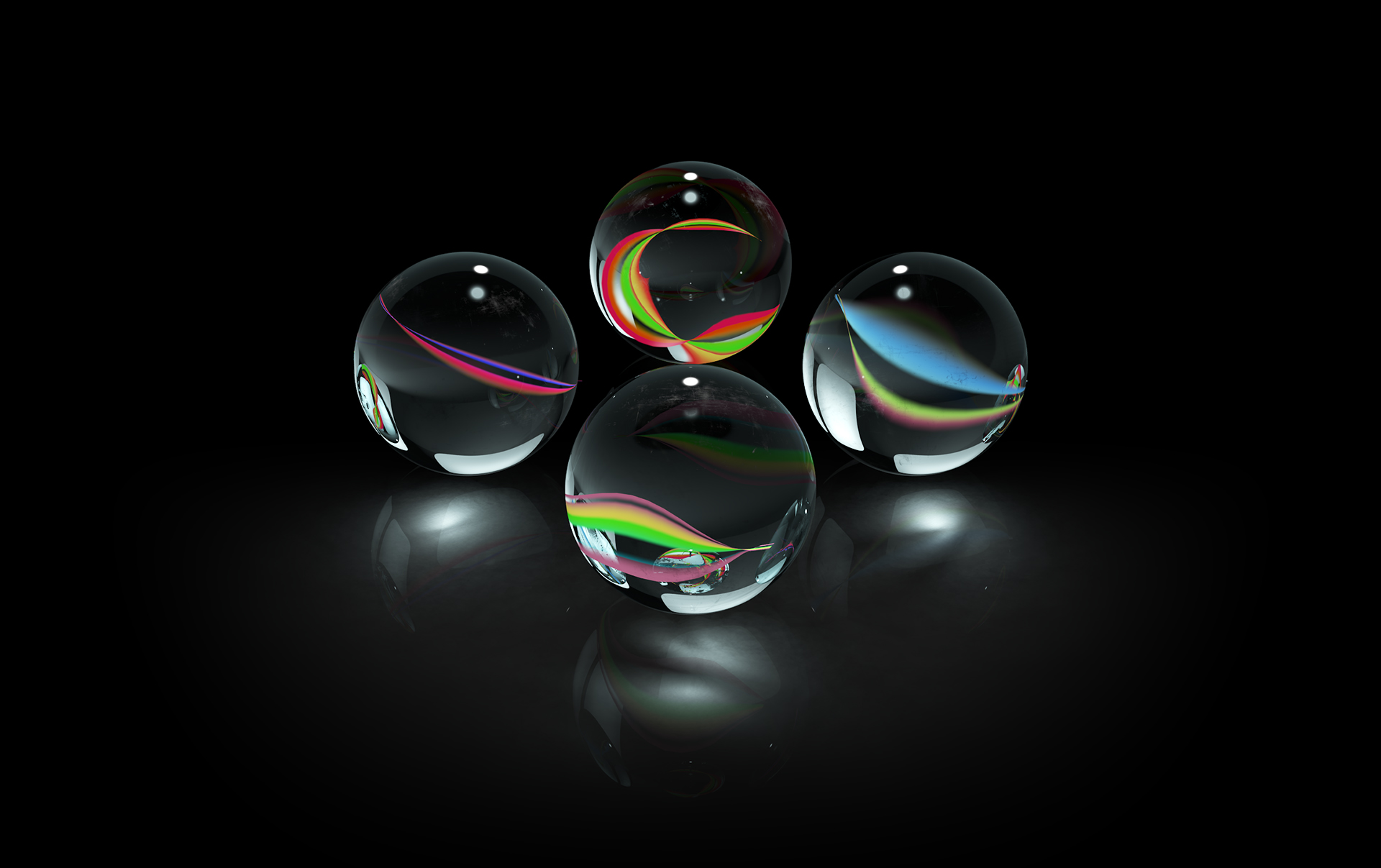 Marble Glass Spheres