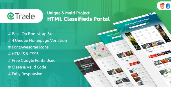 Trade – Modern Classified Ads HTML Template