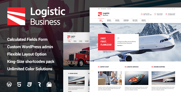 Logistic Business - Transport & Trucking Logistics WordPress Theme - Business Corporate