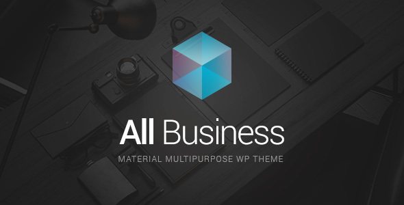 All Business - Corporate & Company Material Design WordPress Theme