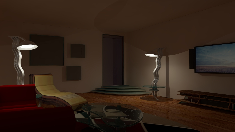 Living room v ray night scene setup by anasmedia 3docean for Living room night