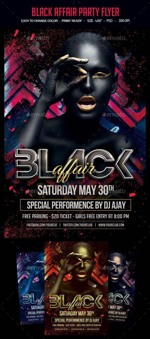 black affair party flyer by studiorgb graphicriver