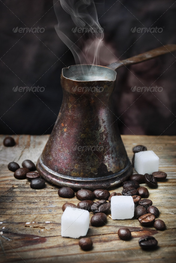 Vintage Coffee Pot - Stock Photo - Images