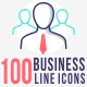 100 Business Line Icons - GraphicRiver Item for Sale