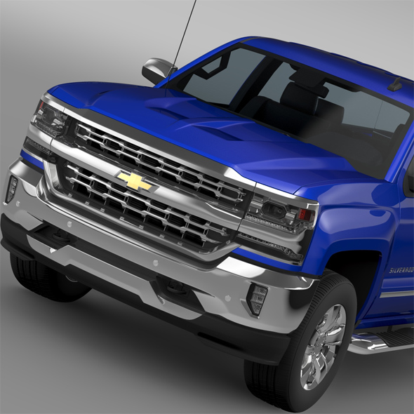 Chevrolet Silverado LTZ Double Cab GMTK2 Standart Box 2016 - 3DOcean Item for Sale