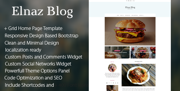 Elnaz Blog - Clean & Responsive WordPress Theme