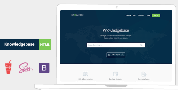 Knowledge - Knowledgebase & Documentation HTMl Template  - Site Templates
