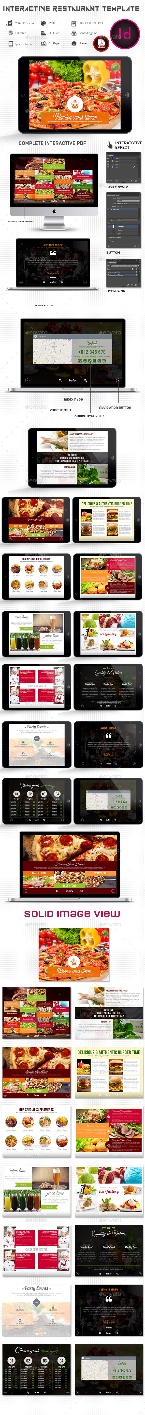 Interactive Restaurant Template  - ePublishing