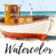 Watercolor Trace - Photoshop Actions - GraphicRiver Item for Sale