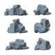 Cartoon Stones Vector Set - GraphicRiver Item for Sale