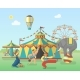 Circus Performance in Park Poster - GraphicRiver Item for Sale