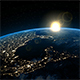 Sunrise over America in Space - VideoHive Item for Sale