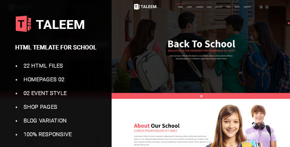 Taleem – School Education HTML5 Template