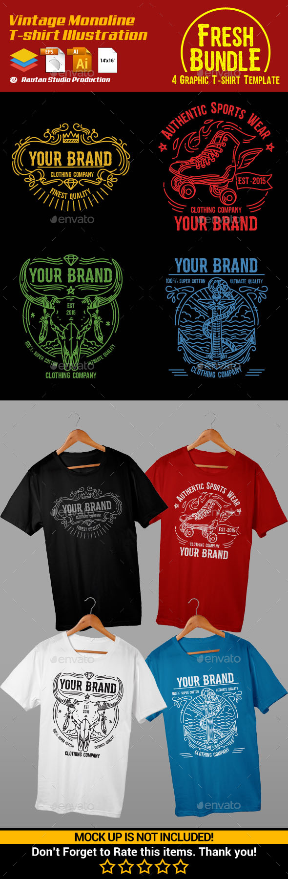 Fresh T Shirt Designs From Graphicriver