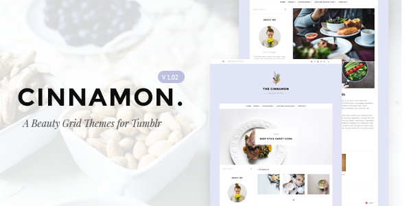 Cinnamon | Casual Grid Tumblr Themes