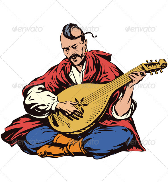 Cossack Musician - People Characters