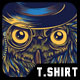 Steampunk Owl T-Shirt Design - GraphicRiver Item for Sale
