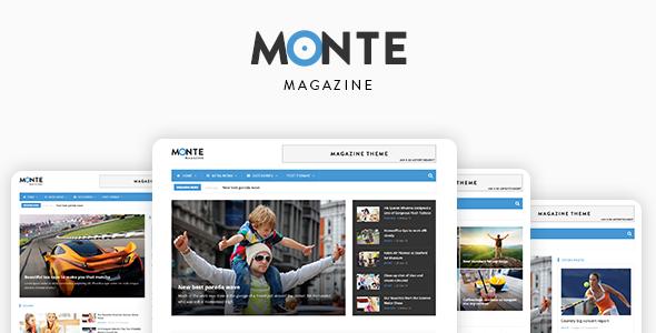 Monte – Responsive Magazine News Drupal 8 Theme