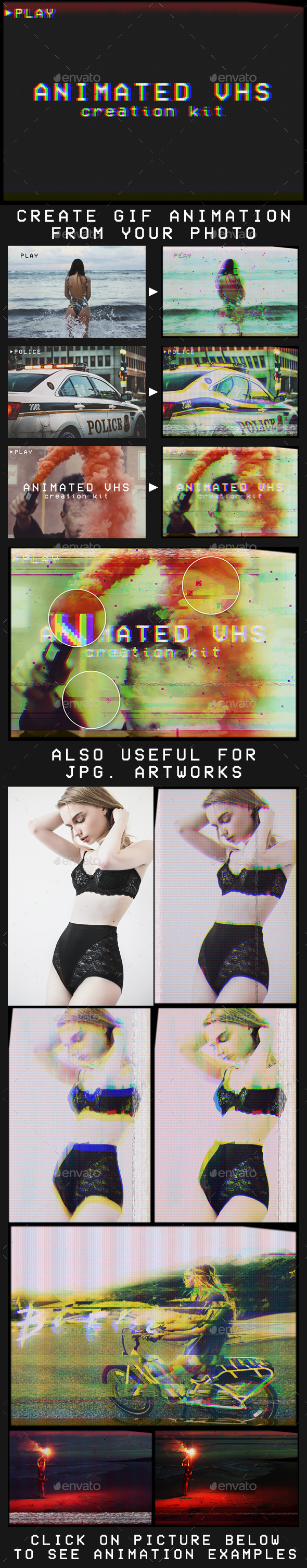 Animated VHS Creation Kit - Artistic Photo Templates