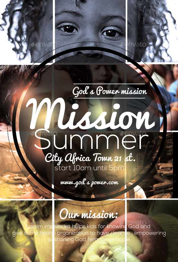 church mission flyer by anea27