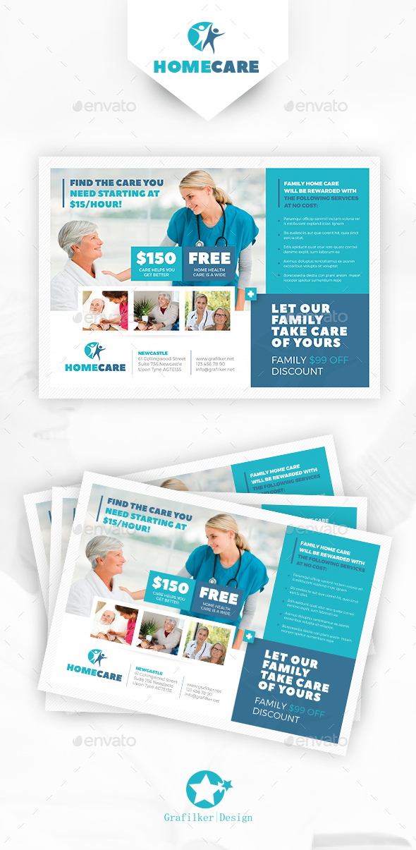 Home Health Care Flyer Templates by grafilker | GraphicRiver
