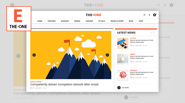 The One – Responsive Blog, News, & Magazine Theme