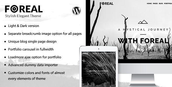 Foreal – Clean, Elegant Black and White Theme