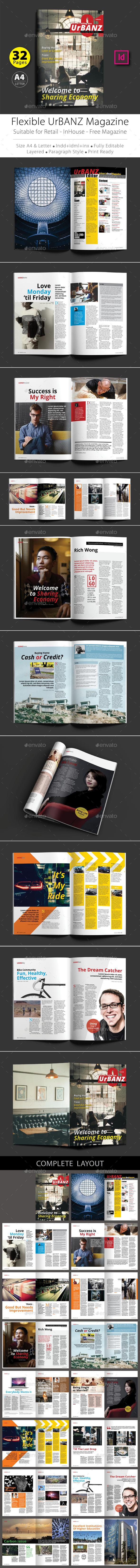 Flexible UrBANZ Magazine Template - Magazines Print Templates